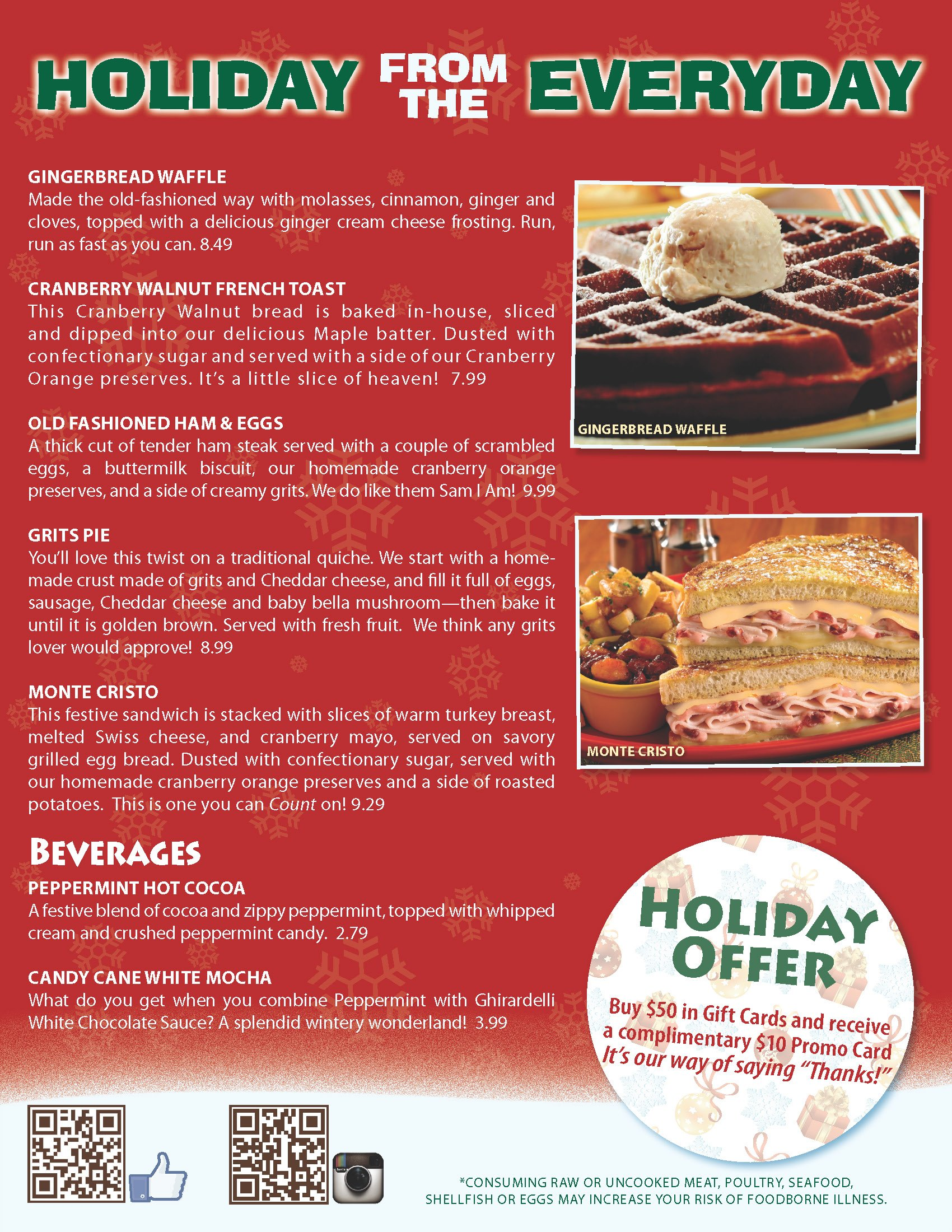 Enjoy a HOLIDAY from the everyday!