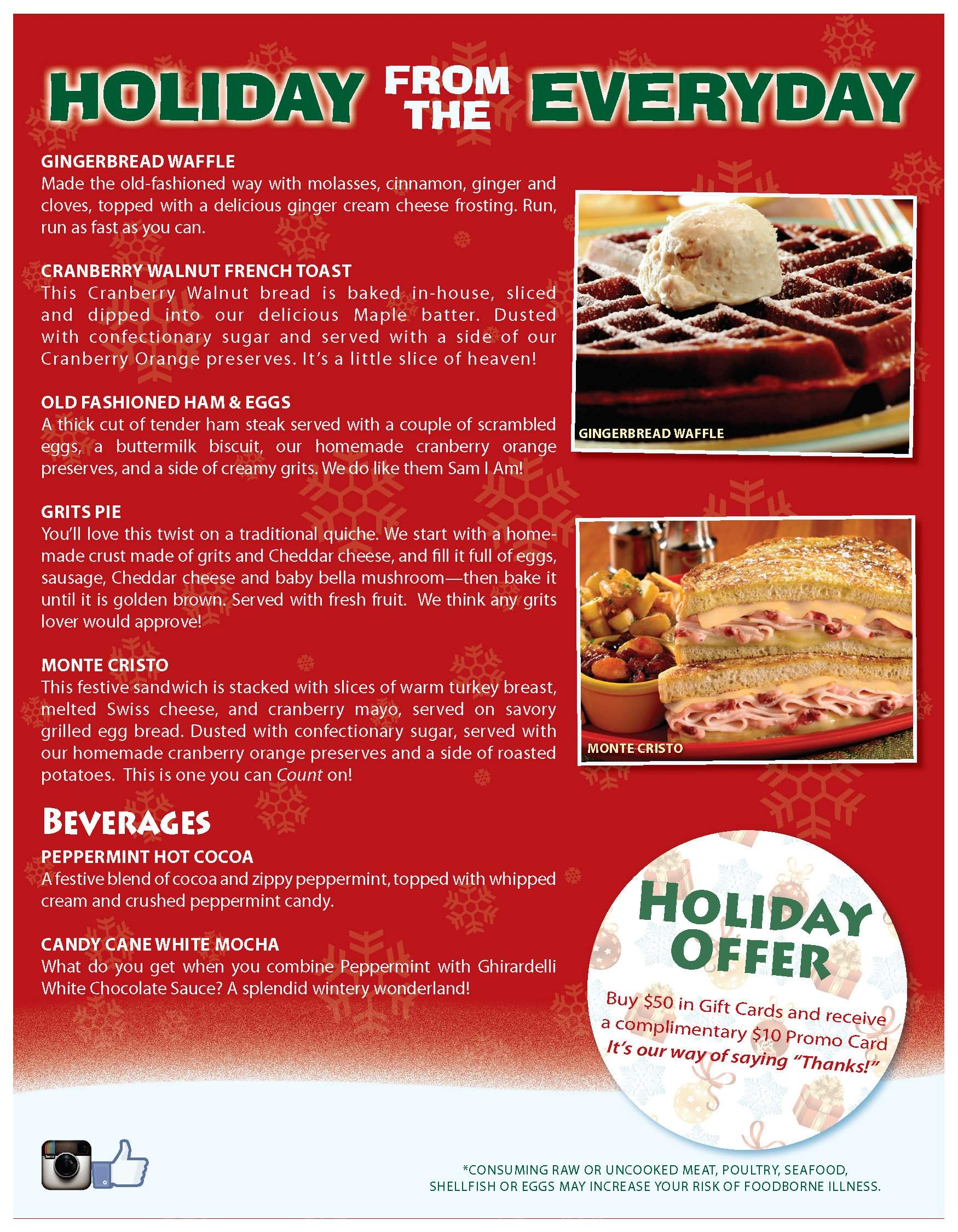 Holiday from the Everyday at J. Christopher's